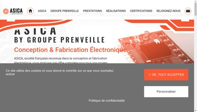 Site internet de Asica