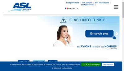 Site internet de Asl Airlines France SA