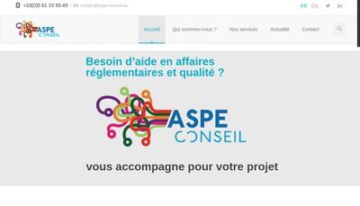 Site internet de Aspe Conseil