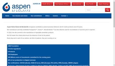 Site internet de Aspen Notre Dame de Bondeville