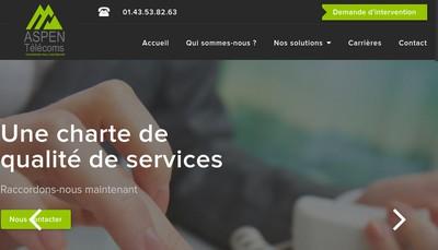 Site internet de Aspen Telecoms