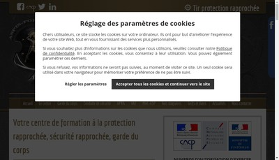Site internet de Aspis-Formation