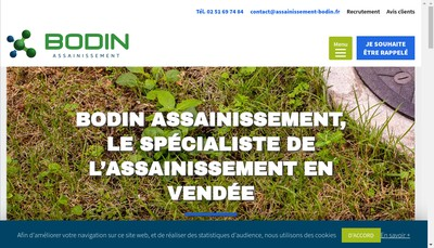 Site internet de Assainissement Bodin