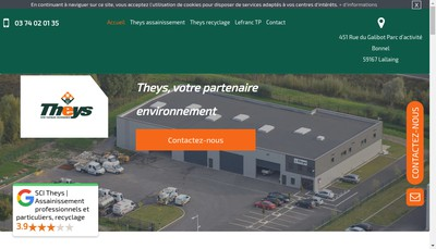 Site internet de Theys Recyclage