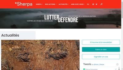 Site internet de Sherpa