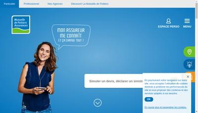 Site internet de Mutuelle de Poitiers