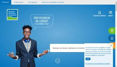 Site internet de Mutuelle de Poitiers Assurances