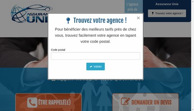 Site internet de Assurance Unie