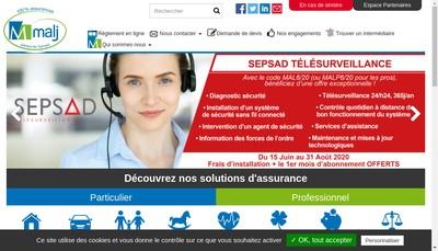 Site internet de Mutuelle Alsace Lorraine Jura