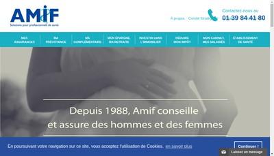Site internet de Amif Patrimoine