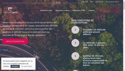 Site internet de Herve Clavel Assurances