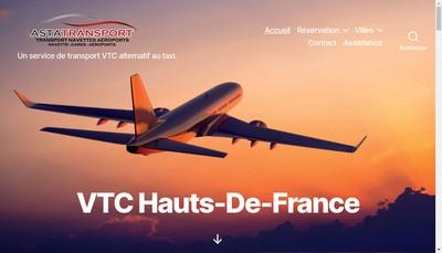 Site internet de Asta Transport
