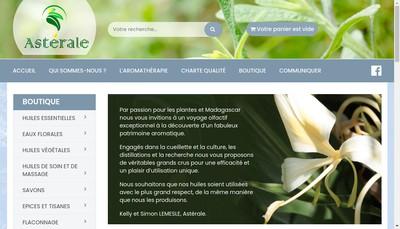 Site internet de Asterale