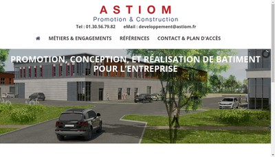 Site internet de Astiom Construction
