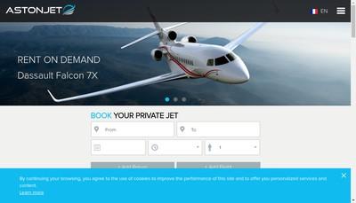 Site internet de Astonjet
