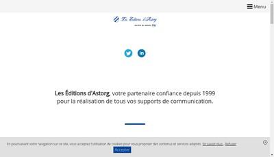 Site internet de Les Editions d'Astorg
