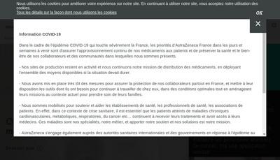 Site internet de Astrazeneca