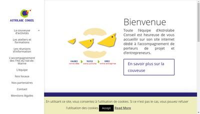 Site internet de Astrolabe Cooperative