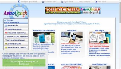 Site internet de Astroquick