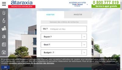 Site internet de Ataraxia Ataraxia Immobilier d'Entreprise