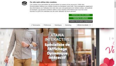 Site internet de Atawa Interactive Vinoreco
