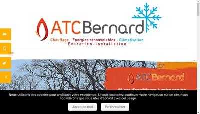 Site internet de ATC Bernard