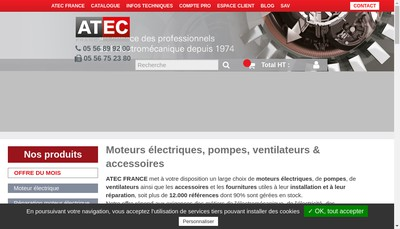 Site internet de Atec - Atec France - 311