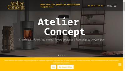 Site internet de Atelier Concept Mode
