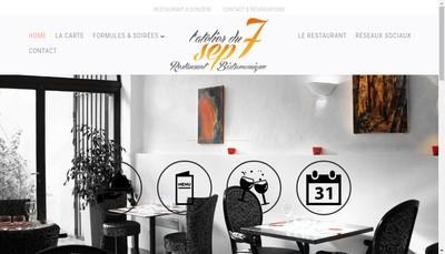 Site internet de L'Atelier du 7