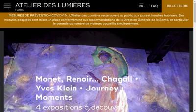 Site internet de L'Atelier