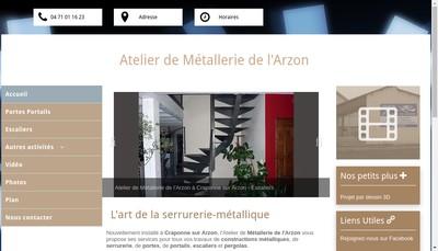 Site internet de Atelier de Metallerie de l'Arzon