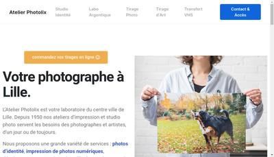 Site internet de Photolix Ink