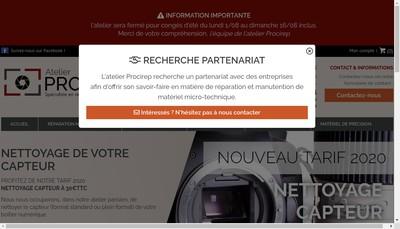 Site internet de Atelier Procirep