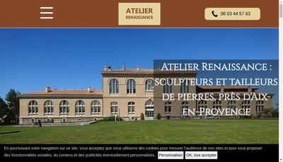 Site internet de Atelier Renaissance