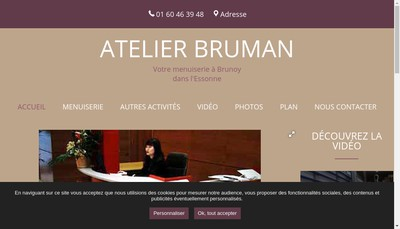 Site internet de Atelier Bruman