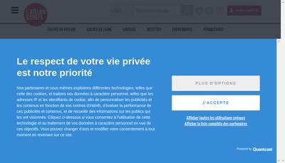 Site internet de Atelier des Chefs