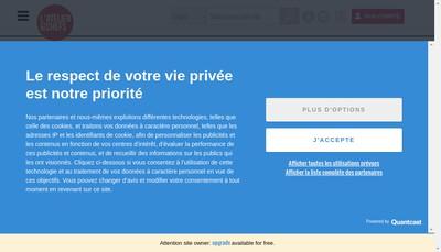 Site internet de L'Atelier des Chefs