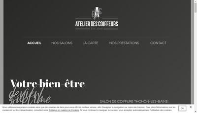 Site internet de Atelier des Coiffeurs