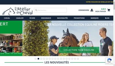 Site internet de L'Atelier du Cheval