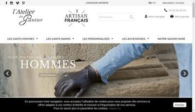 Site internet de SARL l'Atelier du Gantier