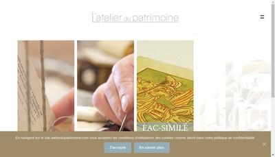 Site internet de L'Atelier du Patrimoine