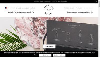Site internet de Avec Plaisir - Atelier du Vin
