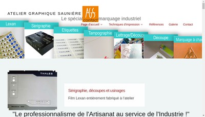 Site internet de Atelier Graphique Sauniere