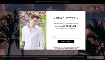Site internet de Atelier Prive