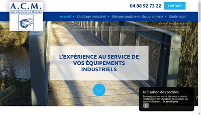 Site internet de Atelier de Construction et de Mecanisation - ACM