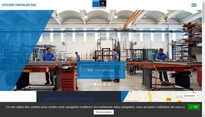 Site internet de Ateliers Chevalier