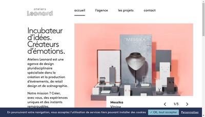 Site internet de Ateliers Leonard