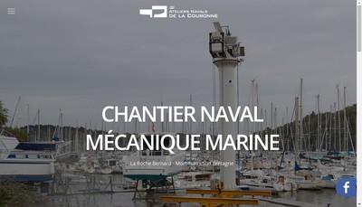 Site internet de Les Ateliers Navals de la Couronne