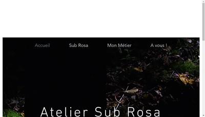 Site internet de Atelier Sub Rosa