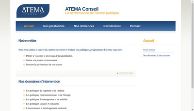 Site internet de Atema Conseil